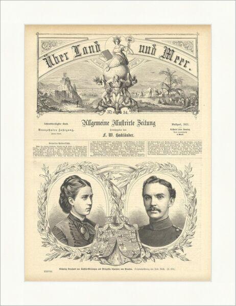 Discipliné Erbprinz Bernhard V. Saxe Meiningen U. Princesse Charlotte V. La Prusse E 1445 Haute SéCurité