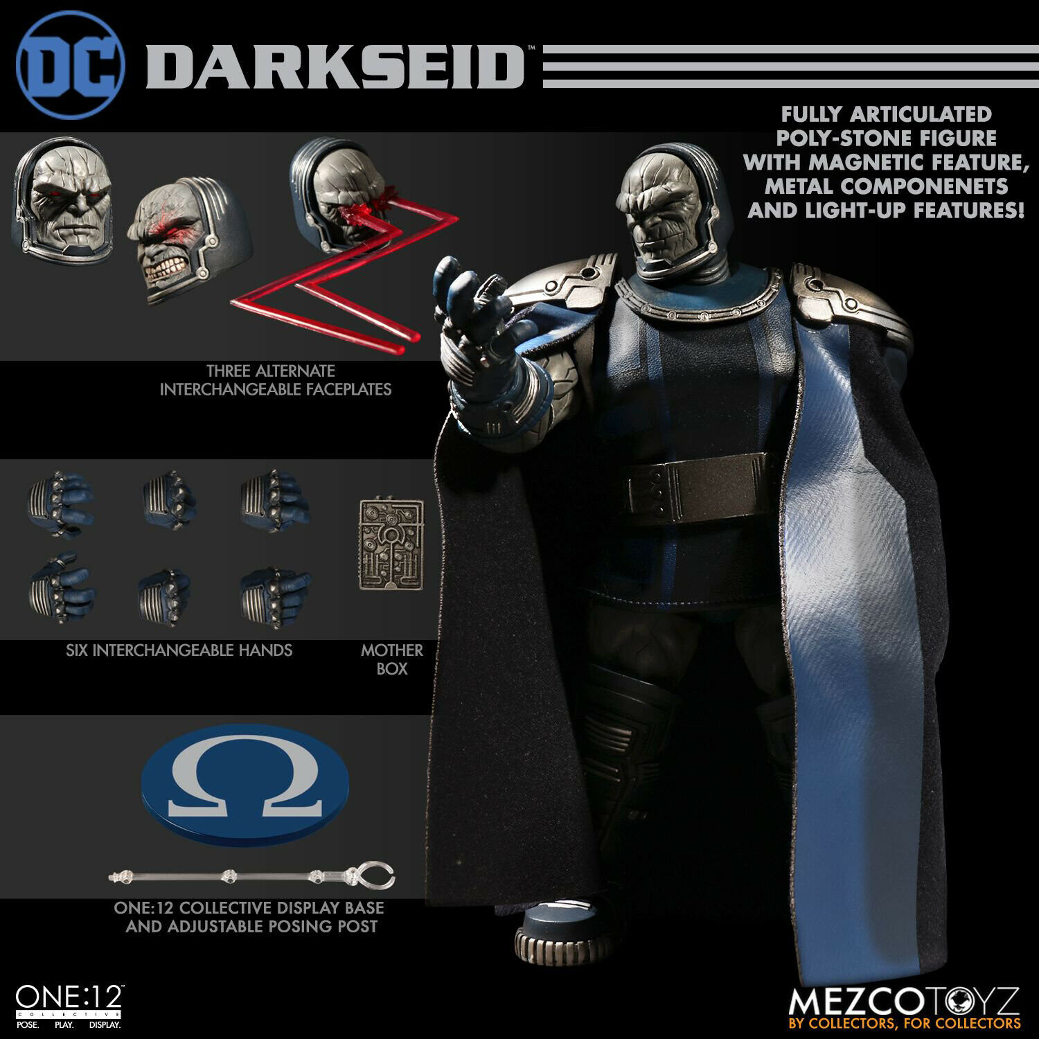 Mezco One 12 Darkseid Action Figure MINT NEW IN BOX