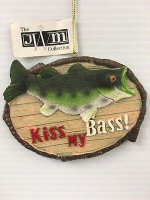 """/""""Kiss My Bass/"""" FISH ORNAMENT"""