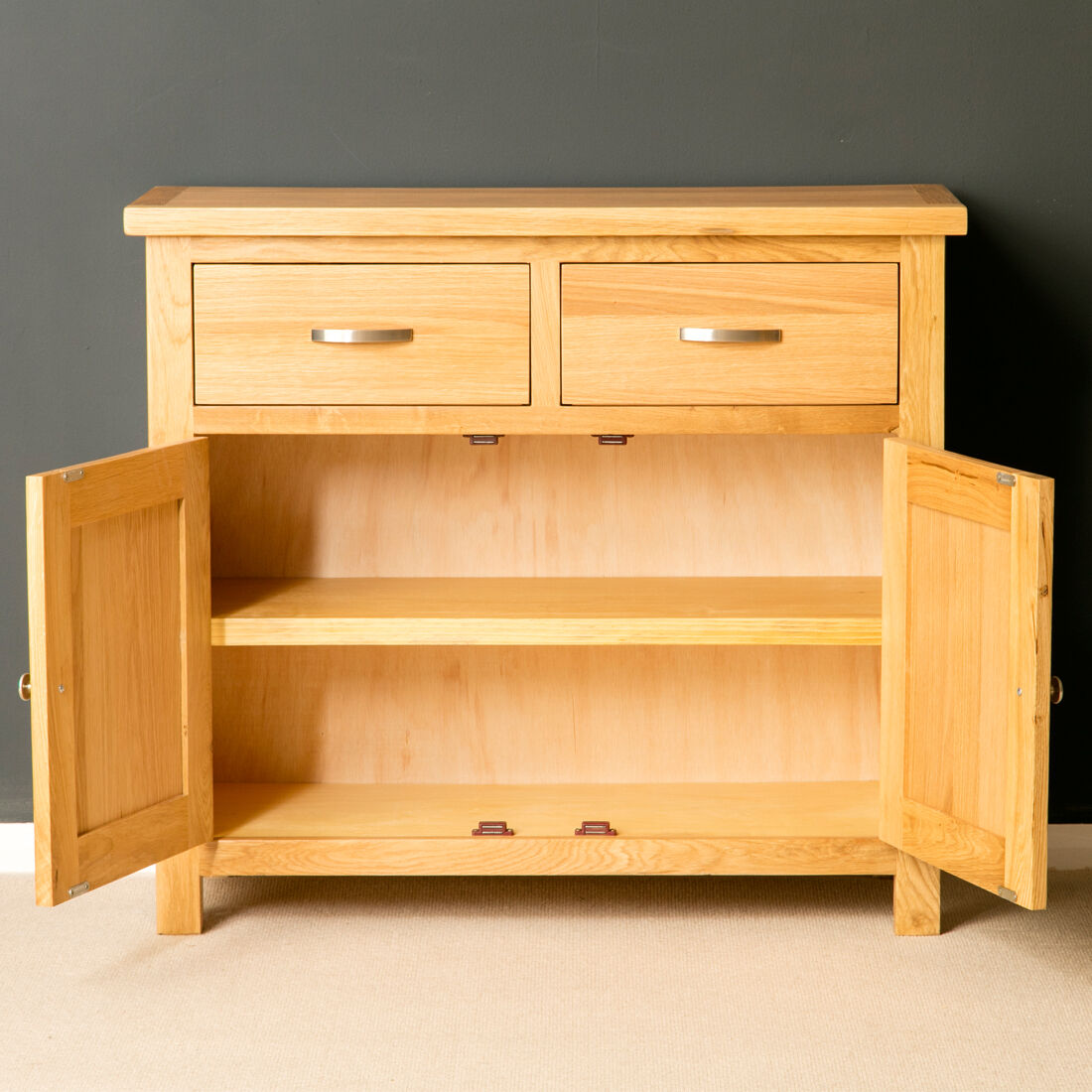 Lacquer Finish Modern Sideboard Roseland Furniture Ltd London Oak Mini Sideboard