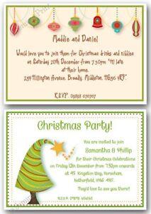 personalised christmas party drinks celebration invitations xmas
