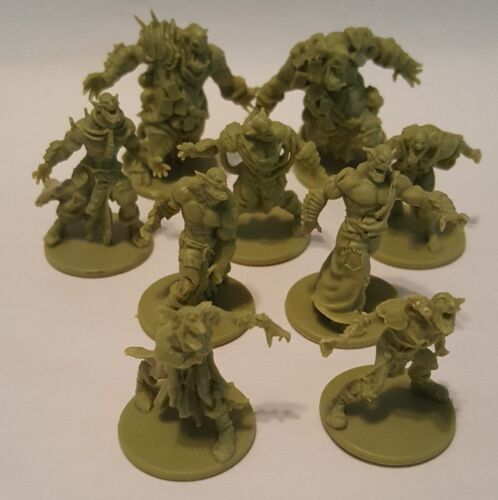 5 walkers EXTRA ORC ZOMBIES 2 fatties Zombicide Green Horde 2 runners