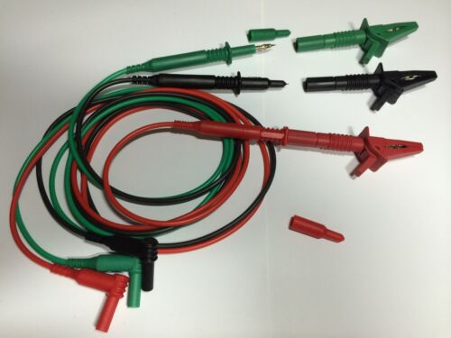 REPLACEMENT TEST LEADS FOR MEGGER MFT MULTIFUNCTION TESTERS JPSS020b