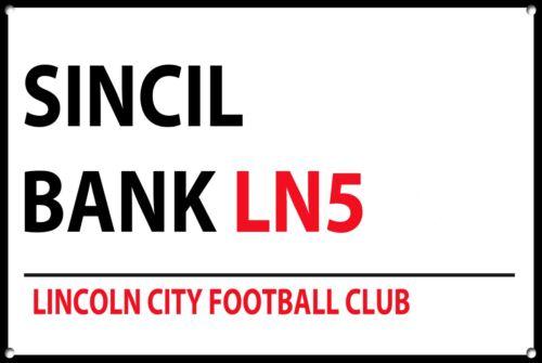 Lincoln City Metal Street Sign Football Teams Wall Door Plaque Sign 1164