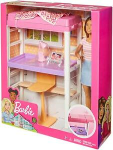 Details About Barbie Bunk Bed Desk Bed Furniture Doll Playset New Mattel Dollhouse Nib Office