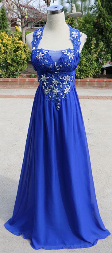 MASQUERADE Blau Evening Prom Formal Gown 9 -  NWT