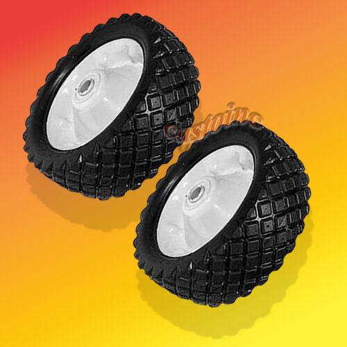 "2 Heavy Duty Wheel Universal Mowers 8.25/"" X 2.75/"" Ball Bearing 5//8/"" Bore"