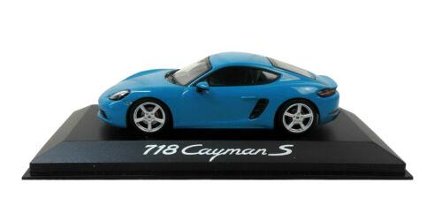 Minichamp Porsche 718 Cayman S Modell Miami blau 1:43