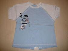 3 Pommes tolles T-Shirt Gr. 74 hellblau-weiß !!