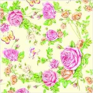 Carta Decoupage Shabby Chic.20 Carta Pranzo Tovaglioli Rose Da Il Mio Giardino Tovaglioli