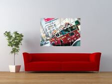 FIRE TRUCK FIRE ENGINE SPEED MOTION GIANT ART PRINT PANEL POSTER NOR0041