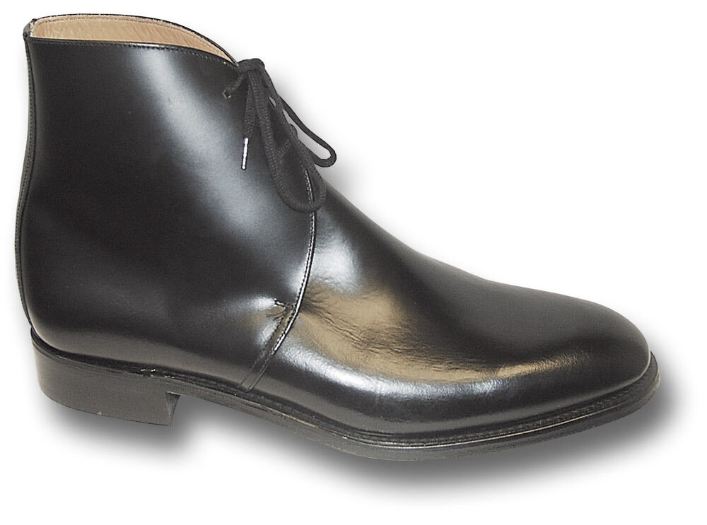OFFICERS GEORGE BOOTS, BLACK (LEATHER OR PATENT) [16028]