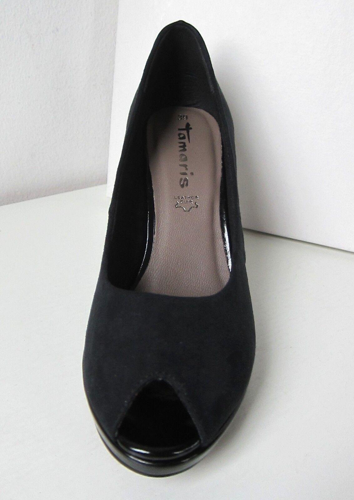Tamaris PLATEAU PUMPS Peep Toe Textil 1 29305 20 007 Black