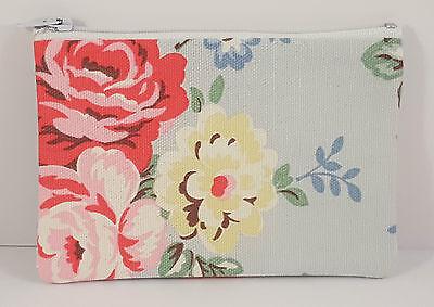 Cath Kidston Park Rose Fabric Handmade Zippy Coin Purse Storage Pouch