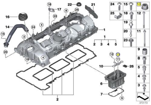BMW 8 mm Testa Esagonale Dado /& Rondella M5 x 0.8 mm 07129904319