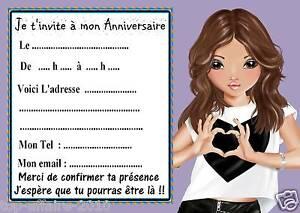 Détails Sur 5 Cartes Invitations Anniversaire Top Model 05