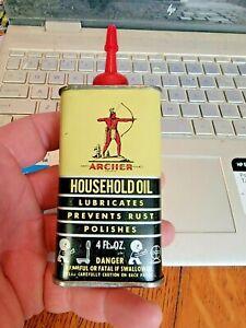 Vintage Archer Household Oil Handy Oiler 4 oz. Metal Oil Can