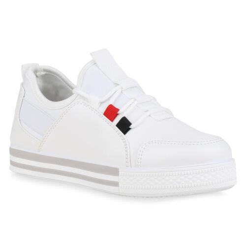 Damen Sneaker Wildleder-Optik Turnschuhe Freizeitschuhe 826544 Trendy Neu