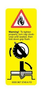 STIHL Warning Label Yellow /& Green 3M Graphic Sticker Vinyl Car Hard Hat Decal