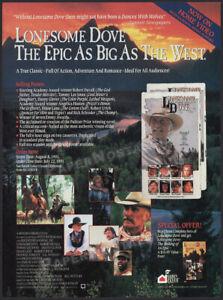 LONESOME DOVE__Original 1991 Trade Print AD / ADVERT__Robert Duvall__Diane Lane