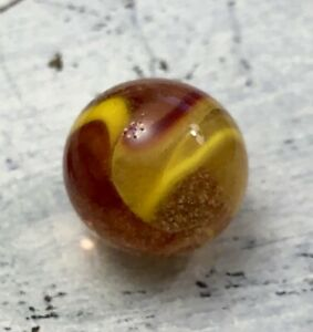 Vintage-HTF-Peltier-Clear-Clown-Marble-Red-Yellow-Marble-Mint-61-034-034-10