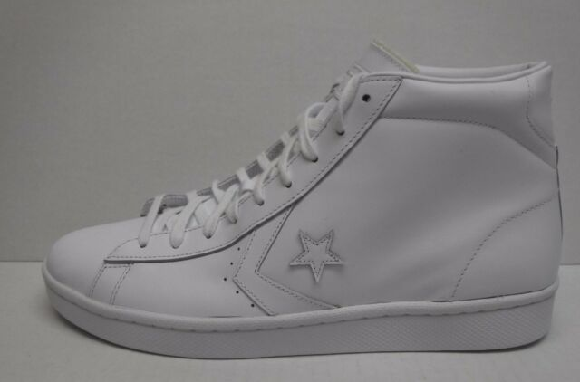 Converse Pro Leather 76 Mid Men s White 155335c 13 for sale online ... 4f6a5ebd4