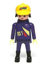 Playmobil Figure Racing Motorcycle Rider w/ Yellow Uvex Hat 3779