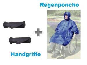 Rollator-Rollstuhl-Set-Regenschutz-Poncho-Jacke-Wetter-Anatomische-Handgriffe