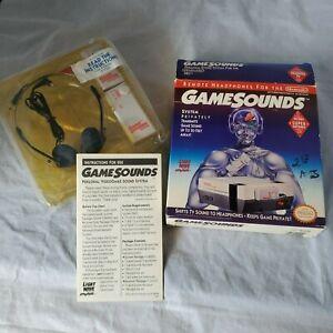 Gamesounds-Remote-Headphones-for-Nintendo-Nes-And-Super-Nintendo-Light-Wave-CIB
