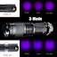 UV LED Zoomable Flashlight Torch Light 365nm Ultra Violet Blacklight AA Battery