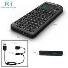 Rii Mini Wireless 2.4GHz Keyboard with Mouse Touchpad Remote Control - Black