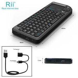 rii tek x1 mini 2 4g black wireless keyboard with mouse