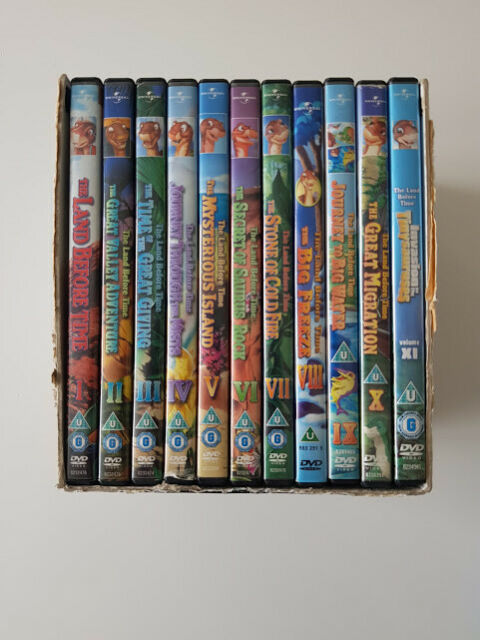 The Land Before Time DVD Complete Movie Boxset 1 - 11 Box Set