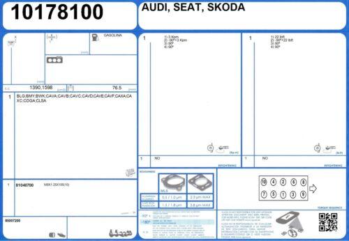 1//2011-9//2012 Cylinder Head Gasket Set AUDI A1 16V 1.4 185 CAVG