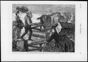 1874-Antique-Print-AGRICULTURAL-Lock-Out-Farmer-Labourer-Horses-Roller-221