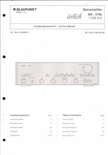 Blaupunkt Service Manual für MA 5790 Artech  Copy