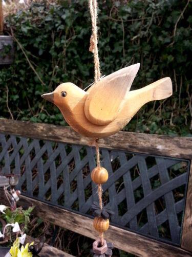 Vogel Holzhänger LadenKlingel Mobilee Bird Orange