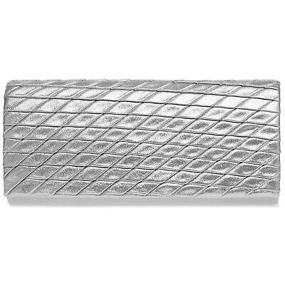 CASPAR TA396 Damen Glitzer Glanz Clutch Tasche Abendtasche elegant Rauten Muster