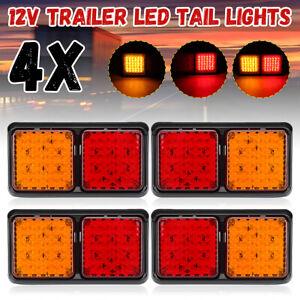 4Pcs-72-LED-TRAILER-Truck-Caravan-UTE-REAR-TAIL-STOP-LIGHT-LED-LAMPS