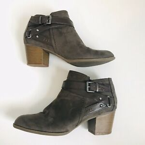 Indigo-Rd-Sigrid-Women-US-Size-8-5-Brown-Two-Tone-Buckles-Side-Zip