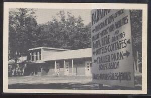 Postcard-BITELY-Michigan-MI-Pickerel-Lakeside-Tourist-Resort-1940-039-s