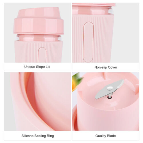 Portable Blender Juicer Cup Mini Smoothies Maker Rechargeable Blender G7U5
