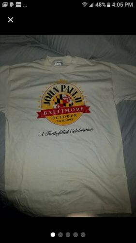 Vintage 1991 Pope John Paul T Shirt xl
