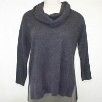 Susina Nordstrom Rack Plus Size 100% Cashmere Charcoal Tunic Sweater 1x