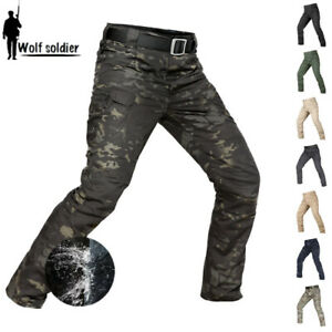 Mens-Army-Military-Tactical-Pants-Combat-Cargo-Waterproof-Hiking-Casual-Trousers