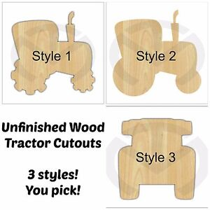 unfinished wood tractor door hanger laser cutout 3 choices various