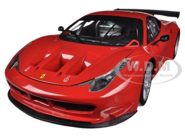 FERRARI 458 ITALIA GT2 red CORSA RED 1 18 DIECAST MODEL CAR BY HOTWHEELS BCJ77