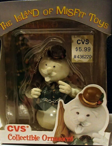 SAM THE SNOWMAN Ornament Rudolph Island of Misfit Toys CVS  Rare Enesco