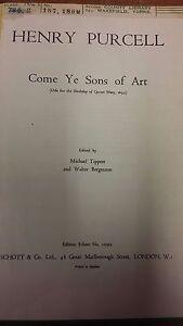 Alerte Purcell: Come Ye Sons Of Art: Musique Vocale Score-afficher Le Titre D'origine Complet Dans Les SpéCifications