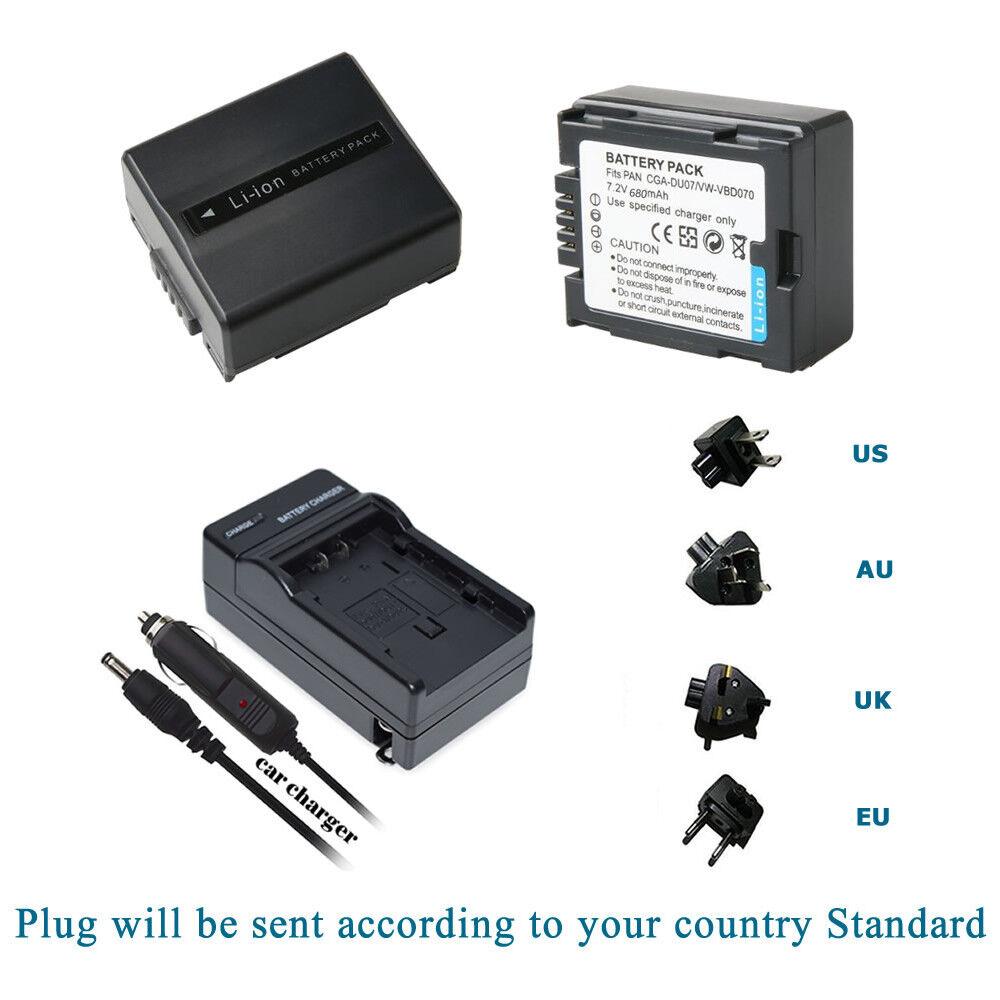 VDR-M50 VDR-M53 VDR-M55 Camcorder Battery Charger for Panasonic VDR-M30